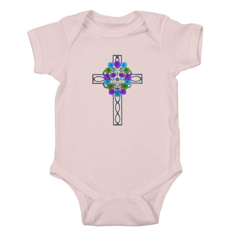 Dia de Los Muertos - Cross My Heart Kids Baby Bodysuit by Armando Padilla Artist Shop