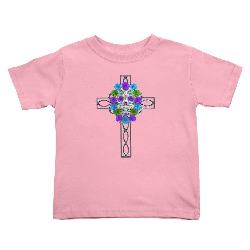 Dia de Los Muertos - Cross My Heart Kids Toddler T-Shirt by Armando Padilla Artist Shop