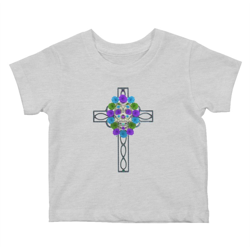 Dia de Los Muertos - Cross My Heart Kids Baby T-Shirt by Armando Padilla Artist Shop