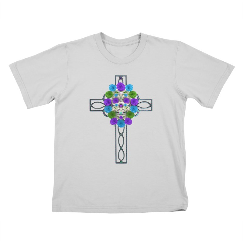 Dia de Los Muertos - Cross My Heart Kids T-Shirt by Armando Padilla Artist Shop