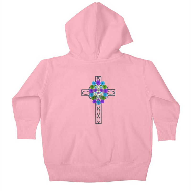 Dia de Los Muertos - Cross My Heart Kids Baby Zip-Up Hoody by Armando Padilla Artist Shop