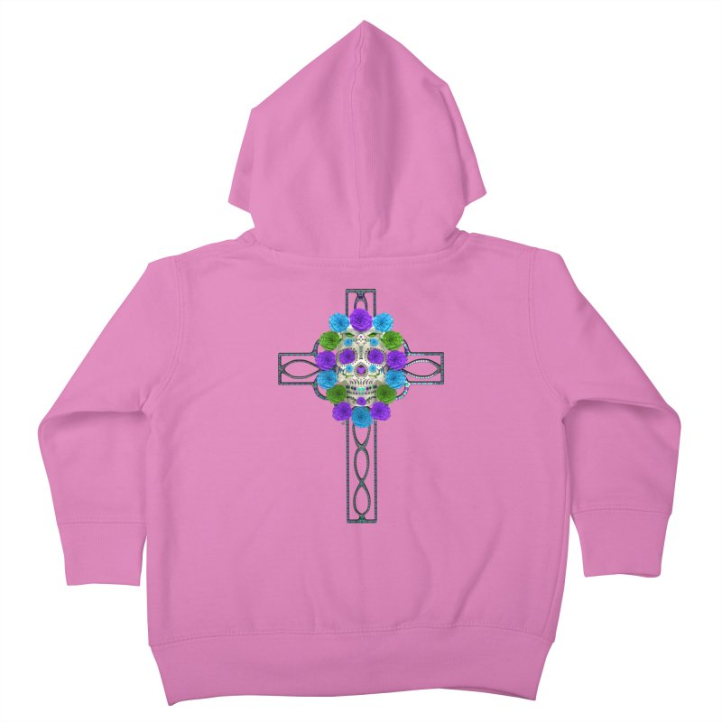 Dia de Los Muertos - Cross My Heart Kids Toddler Zip-Up Hoody by Armando Padilla Artist Shop