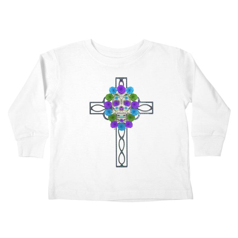Dia de Los Muertos - Cross My Heart Kids Toddler Longsleeve T-Shirt by Armando Padilla Artist Shop