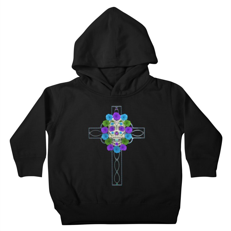 Dia de Los Muertos - Cross My Heart Kids Toddler Pullover Hoody by Armando Padilla Artist Shop