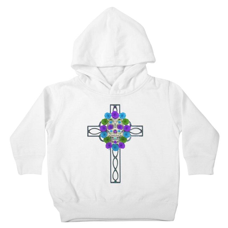 Dia de Los Muertos - Cross My Heart Kids Toddler Pullover Hoody by Armando Padilla Artist Shop