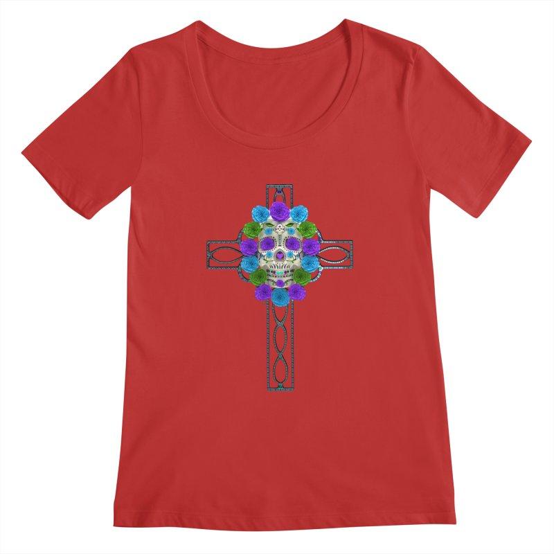 Dia de Los Muertos - Cross My Heart Women's Regular Scoop Neck by Armando Padilla Artist Shop