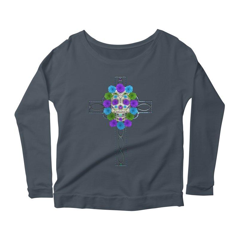Dia de Los Muertos - Cross My Heart Women's Scoop Neck Longsleeve T-Shirt by Armando Padilla Artist Shop