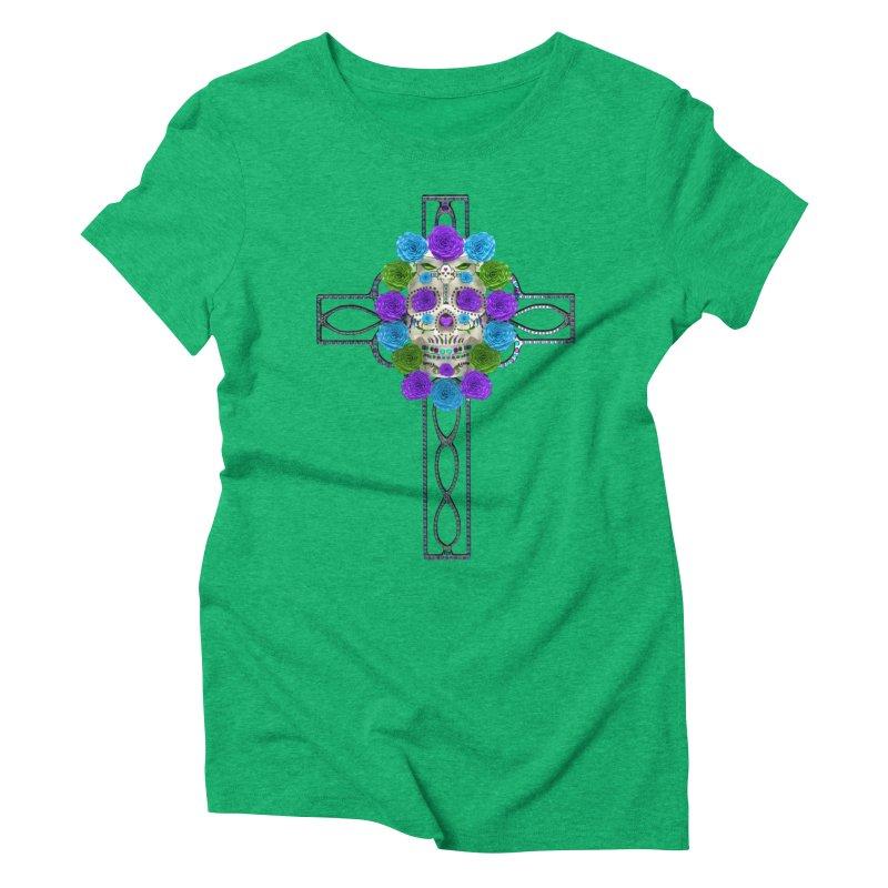 Dia de Los Muertos - Cross My Heart Women's Triblend T-Shirt by Armando Padilla Artist Shop