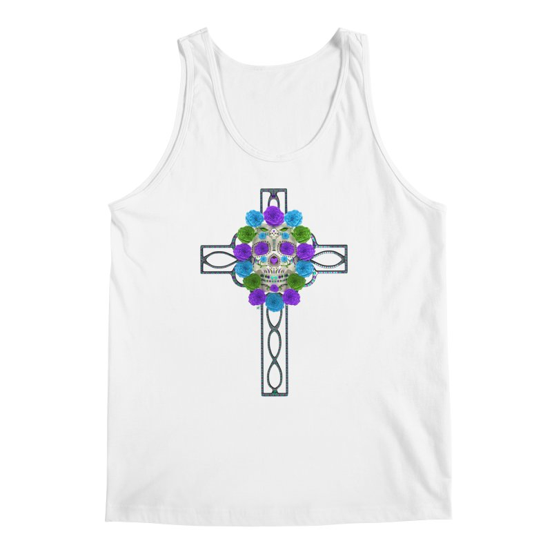 Dia de Los Muertos - Cross My Heart Men's Regular Tank by Armando Padilla Artist Shop