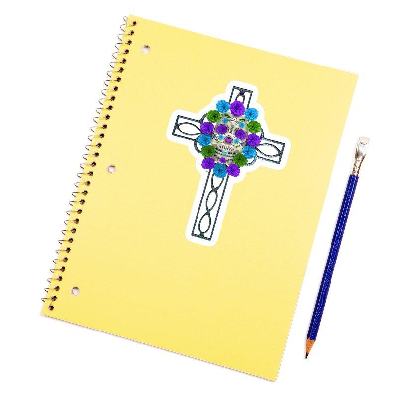 Dia de Los Muertos - Cross My Heart Accessories Sticker by Armando Padilla Artist Shop