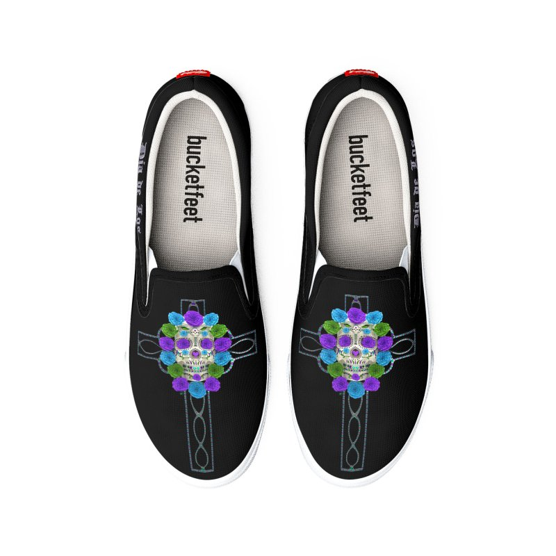 Dia de Los Muertos - Cross My Heart Men's Shoes by Armando Padilla Artist Shop