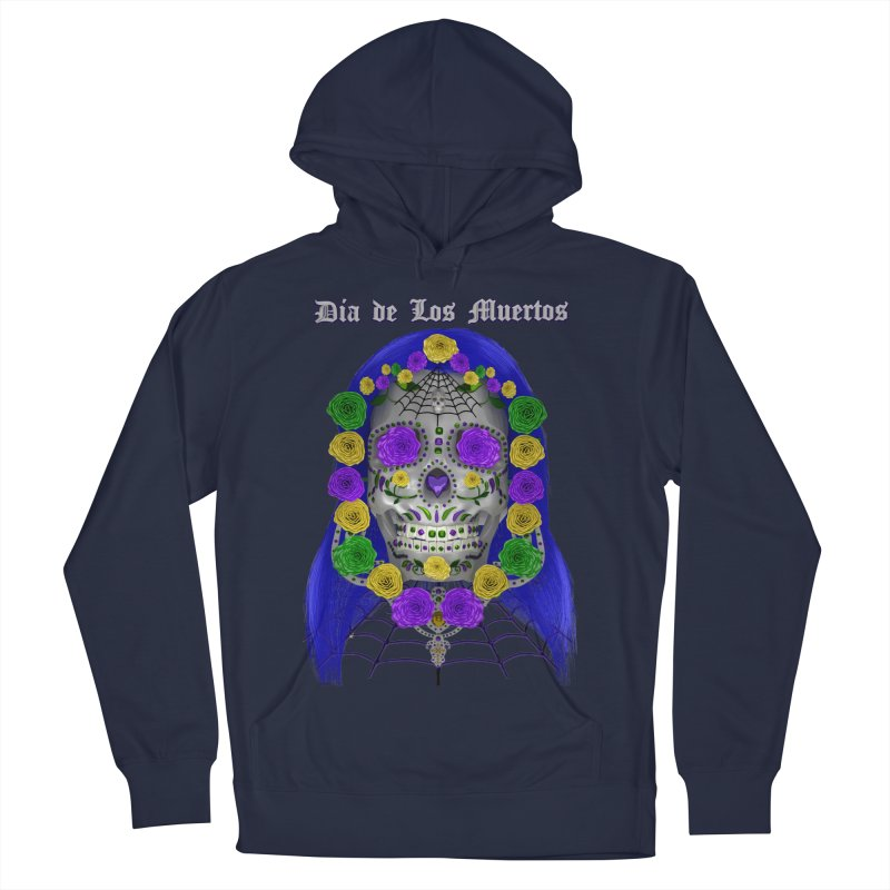 Sapphire's Web Women's French Terry Pullover Hoody by Armando Padilla Artist Shop