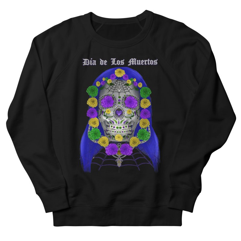 Sapphire's Web Men's French Terry Sweatshirt by Armando Padilla Artist Shop