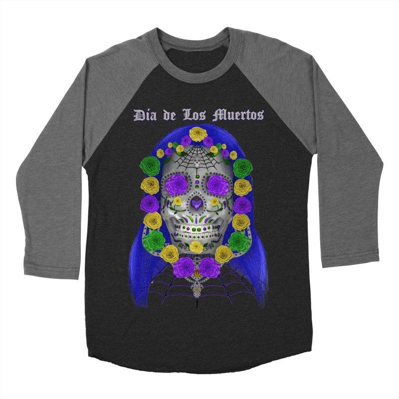 Sapphire's Web Men's Baseball Triblend Longsleeve T-Shirt by Armando Padilla Artist Shop