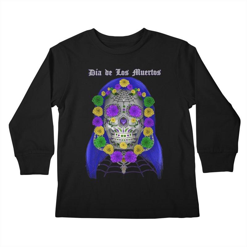 Sapphire's Web Kids Longsleeve T-Shirt by Armando Padilla Artist Shop