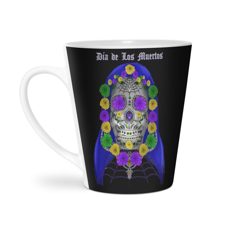 Sapphire's Web Accessories Latte Mug by Armando Padilla Artist Shop
