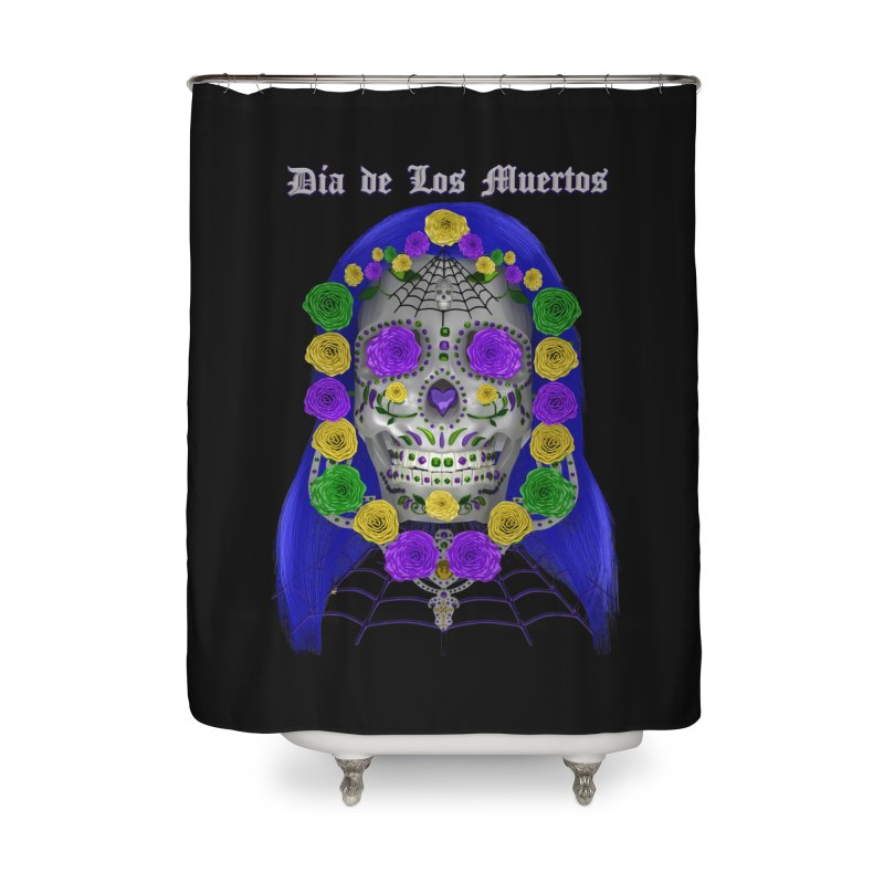 Sapphire's Web Home Shower Curtain by Armando Padilla Artist Shop