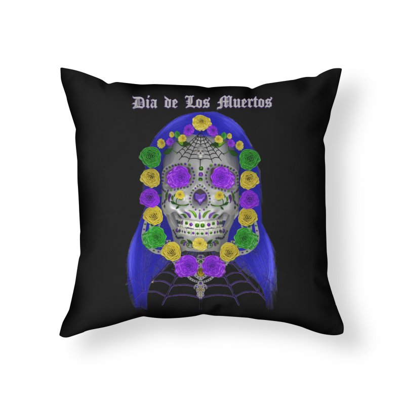 Sapphire's Web Home Throw Pillow by Armando Padilla Artist Shop