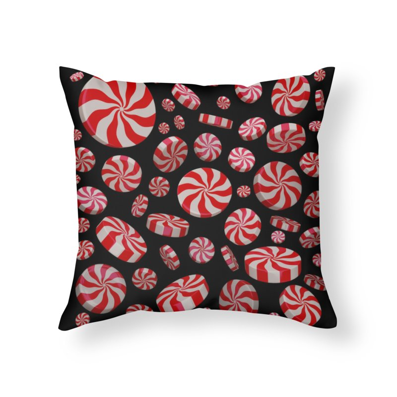 Candy Cane Mint Burst Home Throw Pillow by Armando Padilla Artist Shop