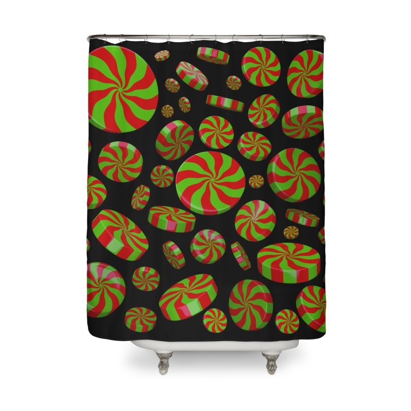 Christmas Mint Burst Home Shower Curtain by Armando Padilla Artist Shop