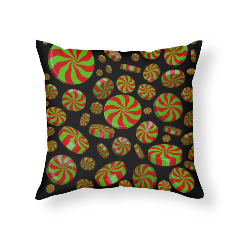 Christmas Mint Burst Home Throw Pillow by Armando Padilla Artist Shop