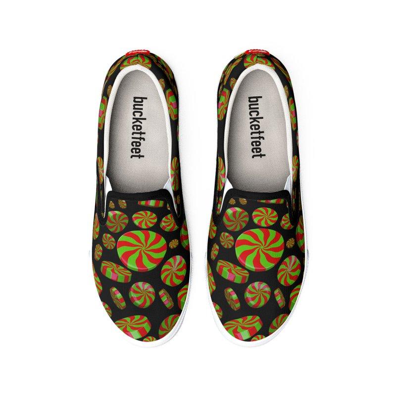 Christmas Mint Burst Women's Shoes by Armando Padilla Artist Shop