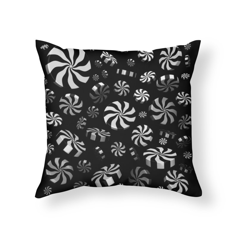 Christmas 50s TV Mint Burst Home Throw Pillow by Armando Padilla Artist Shop
