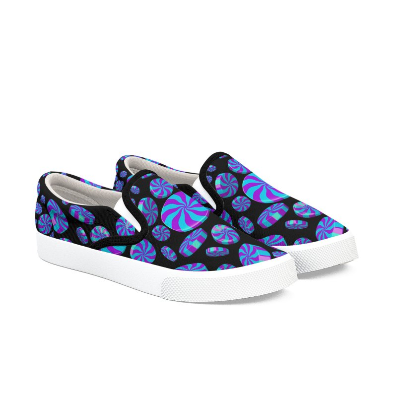 Monsters Ink Peppermints Women's Slip-On Shoes by Armando Padilla Artist Shop