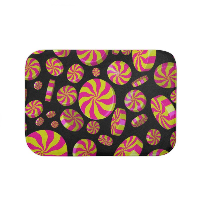 Lemon Bubble Gum Peppermint Home Bath Mat by Armando Padilla Artist Shop