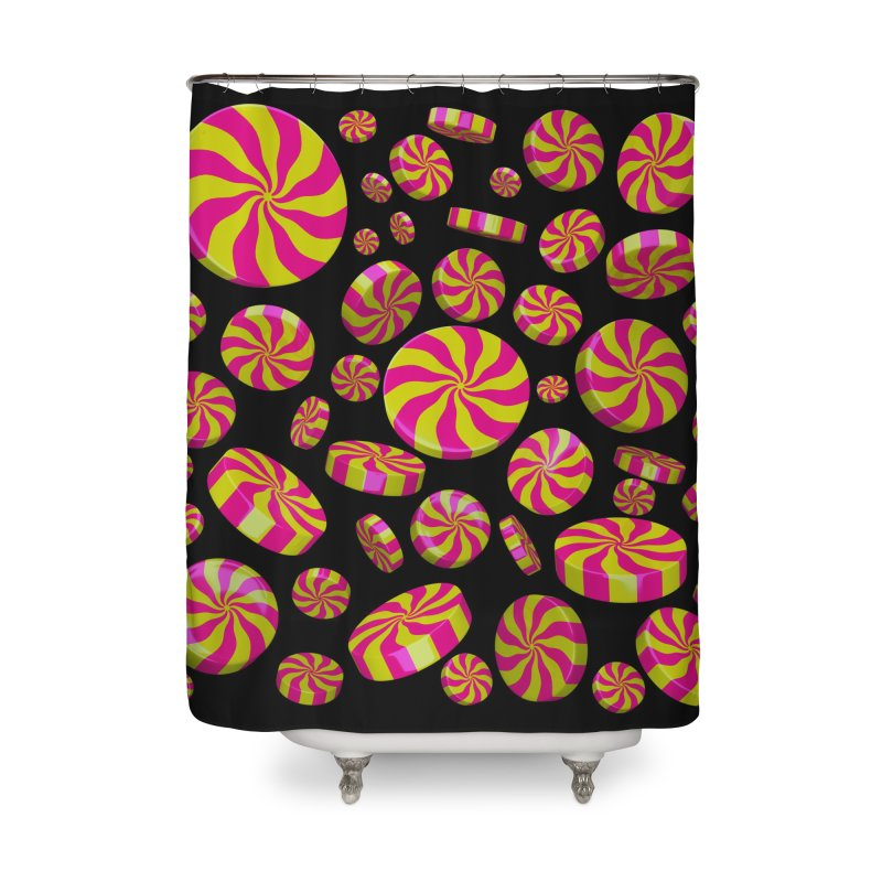 Lemon Bubble Gum Peppermint Home Shower Curtain by Armando Padilla Artist Shop