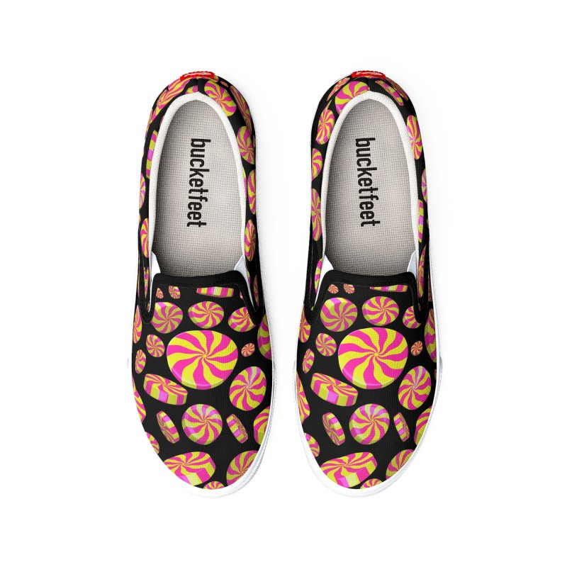 Lemon Bubble Gum Peppermint Women's Shoes by Armando Padilla Artist Shop
