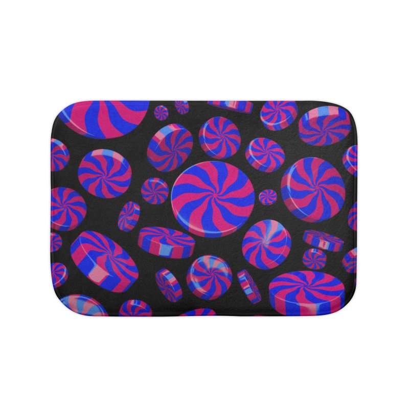 Cheshire Swirl Peppermint Home Bath Mat by Armando Padilla Artist Shop