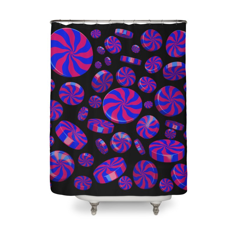 Cheshire Swirl Peppermint Home Shower Curtain by Armando Padilla Artist Shop