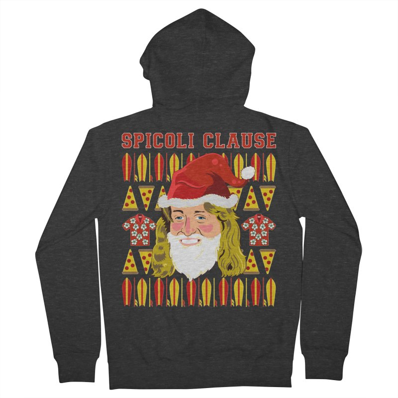 Spicoli Clause Women's French Terry Zip-Up Hoody by Armando Padilla Artist Shop