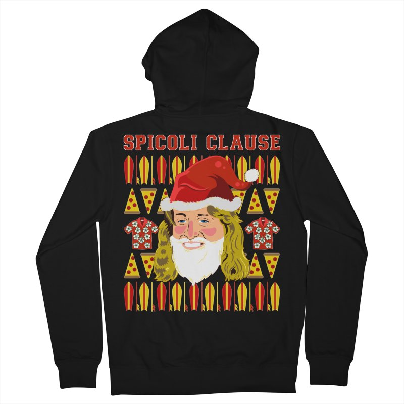 Spicoli Clause Men's French Terry Zip-Up Hoody by Armando Padilla Artist Shop