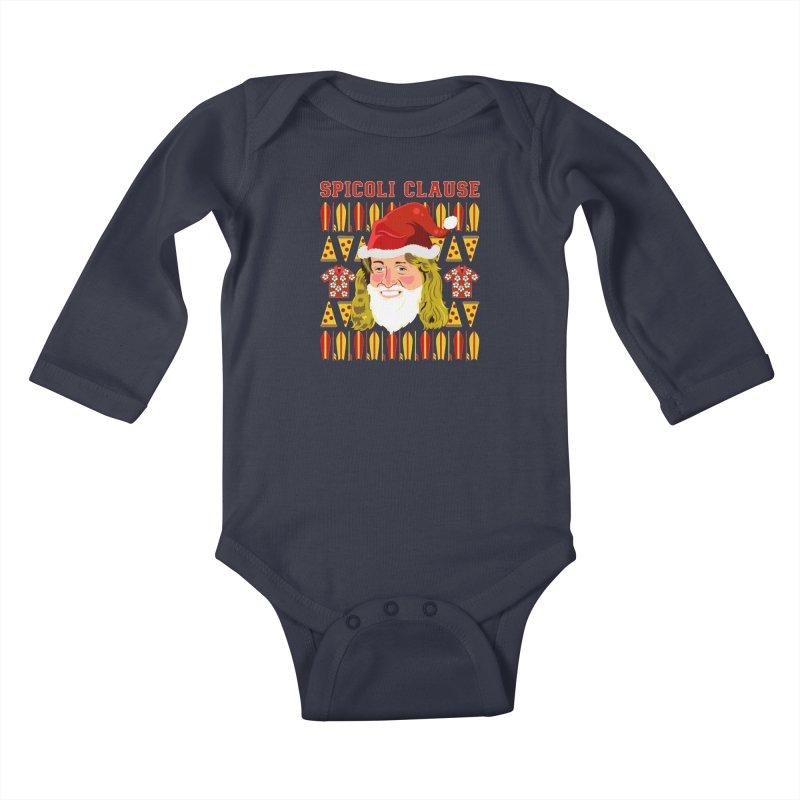 Spicoli Clause Kids Baby Longsleeve Bodysuit by Armando Padilla Artist Shop