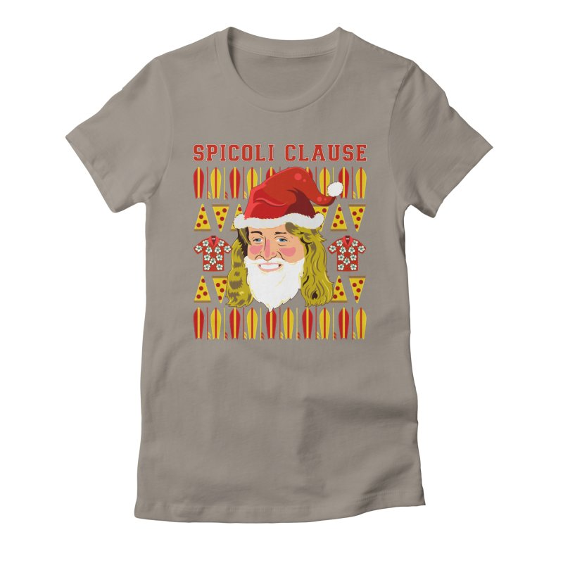 Spicoli Clause Women's Fitted T-Shirt by Armando Padilla Artist Shop