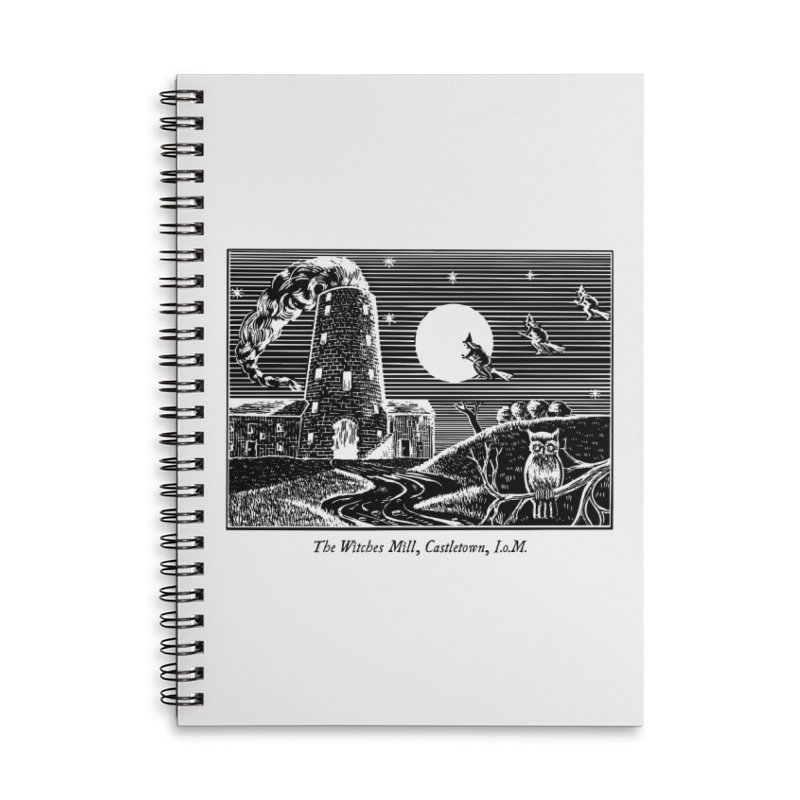The Witches Mill, Castletown Accessories Lined Spiral Notebook by Mandragora Magika