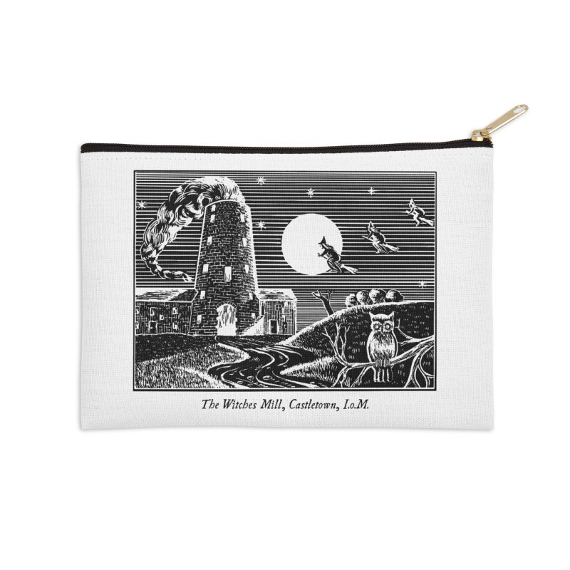 The Witches Mill, Castletown Accessories Zip Pouch by Mandragora Magika