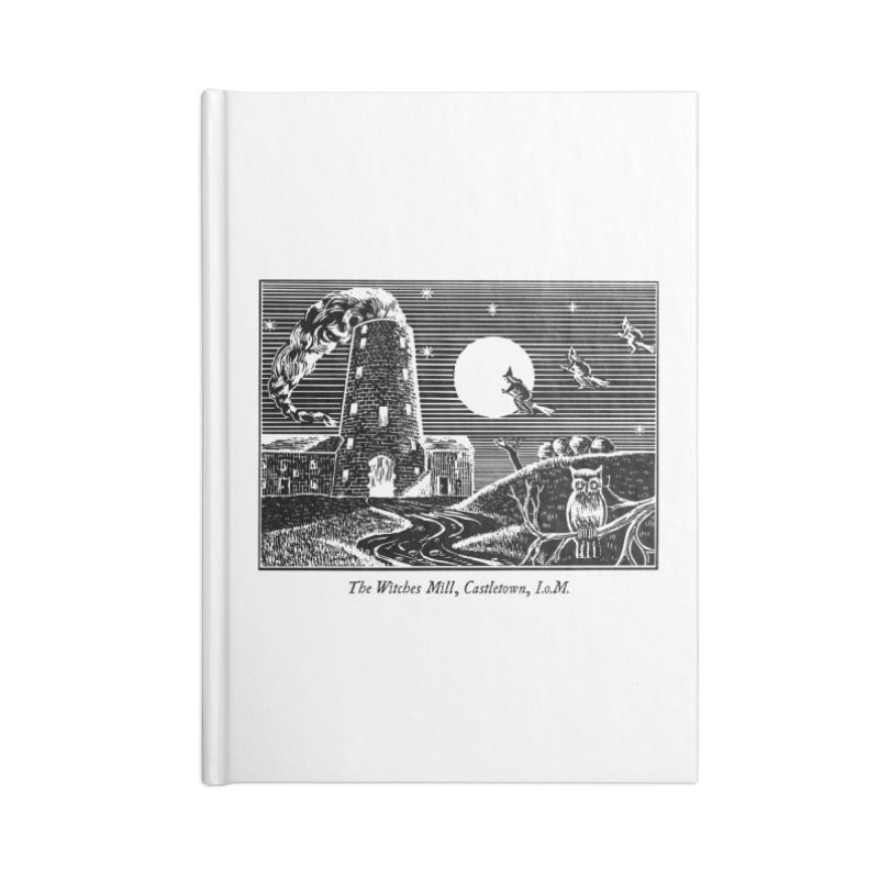 The Witches Mill, Castletown Accessories Blank Journal Notebook by Mandragora Magika