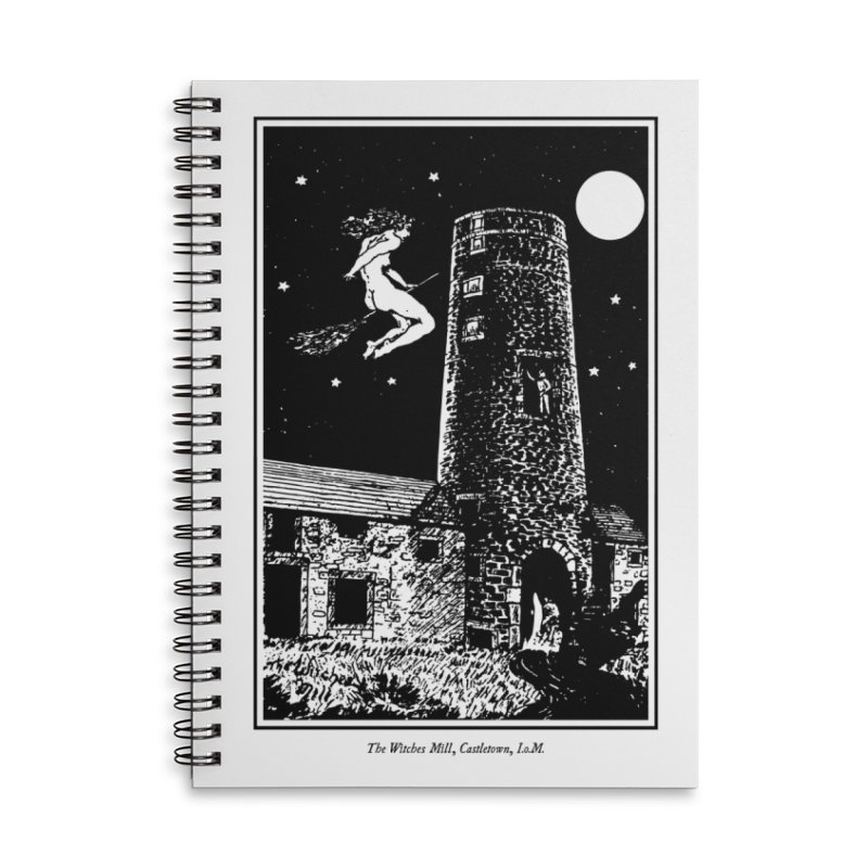 The Witches Mill Accessories Lined Spiral Notebook by Mandragora Magika
