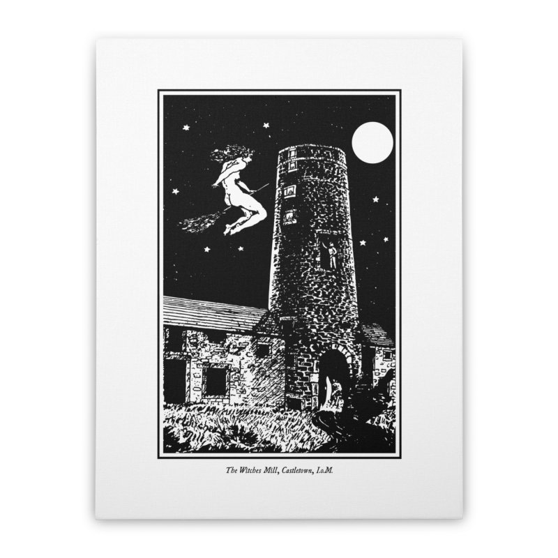The Witches Mill Home Stretched Canvas by Mandragora Magika