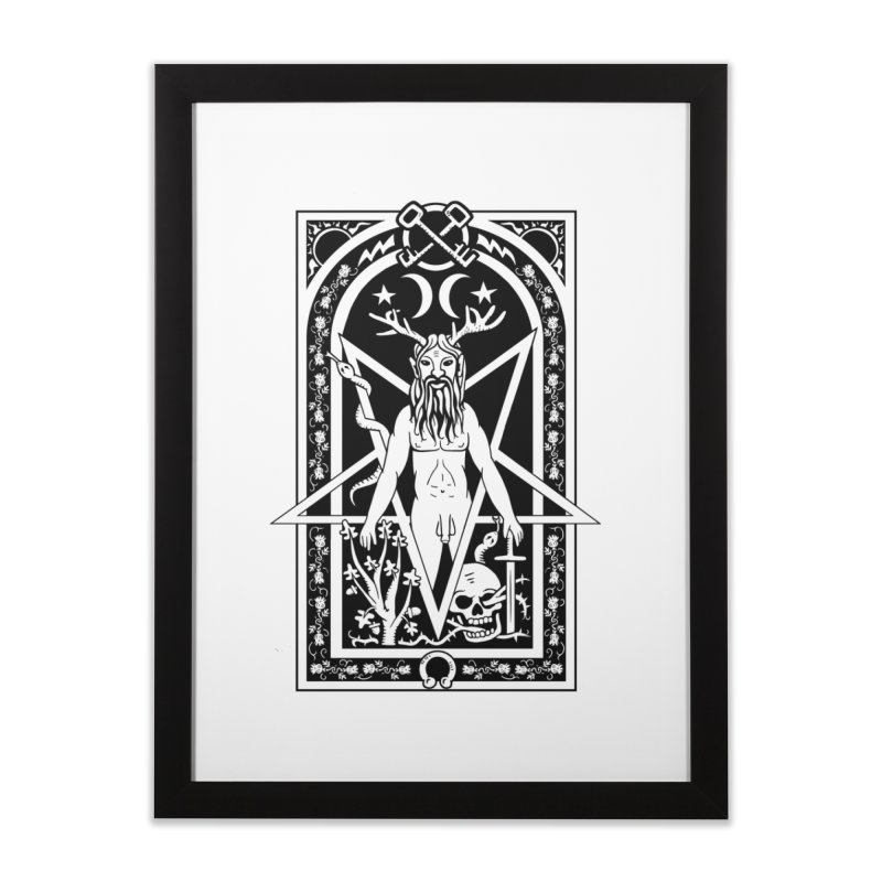 Horned God Home Framed Fine Art Print by Mandragora Magika