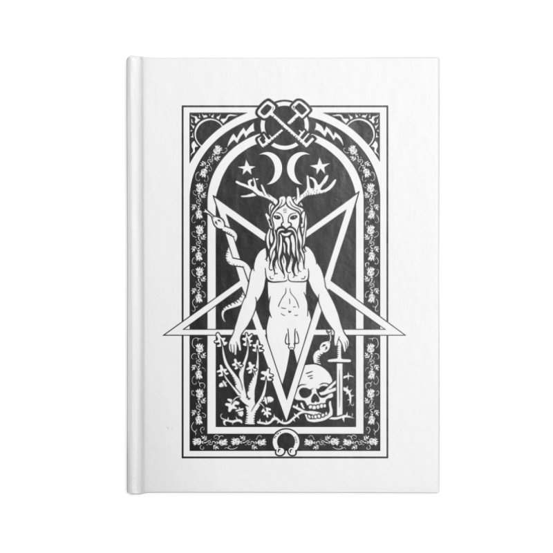 Horned God Accessories Blank Journal Notebook by Mandragora Magika