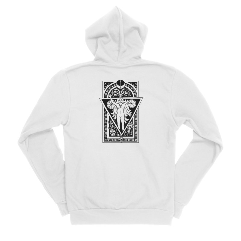 Goddess of the Moon Men's Sponge Fleece Zip-Up Hoody by Mandragora Magika