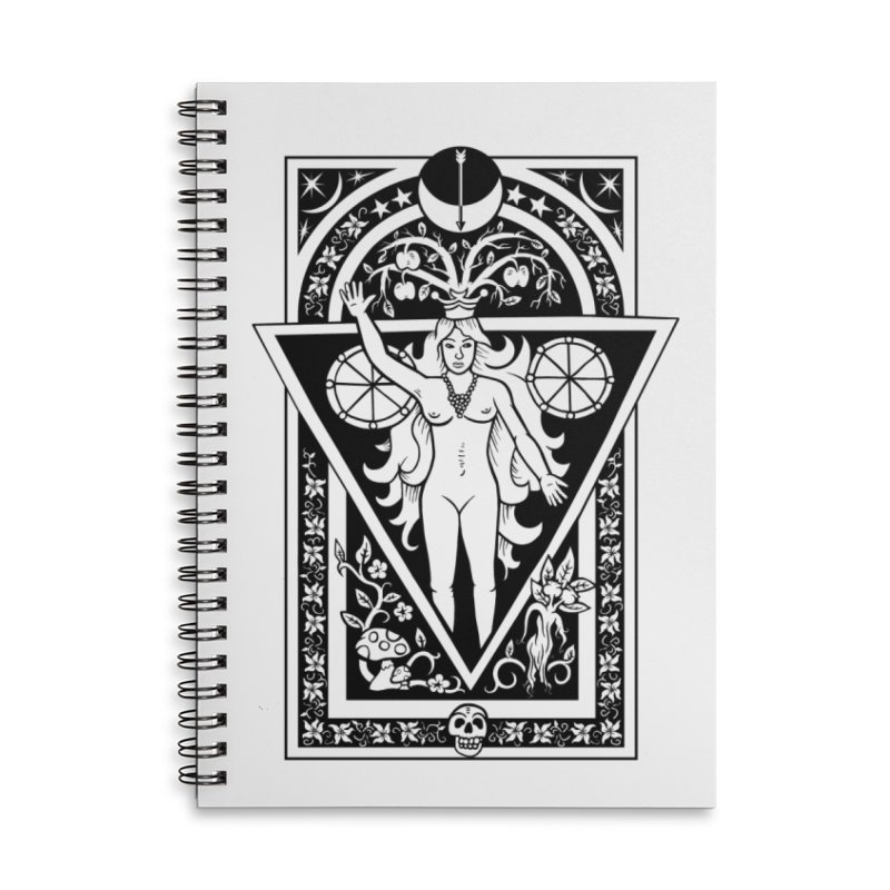 Goddess of the Moon Accessories Lined Spiral Notebook by Mandragora Magika