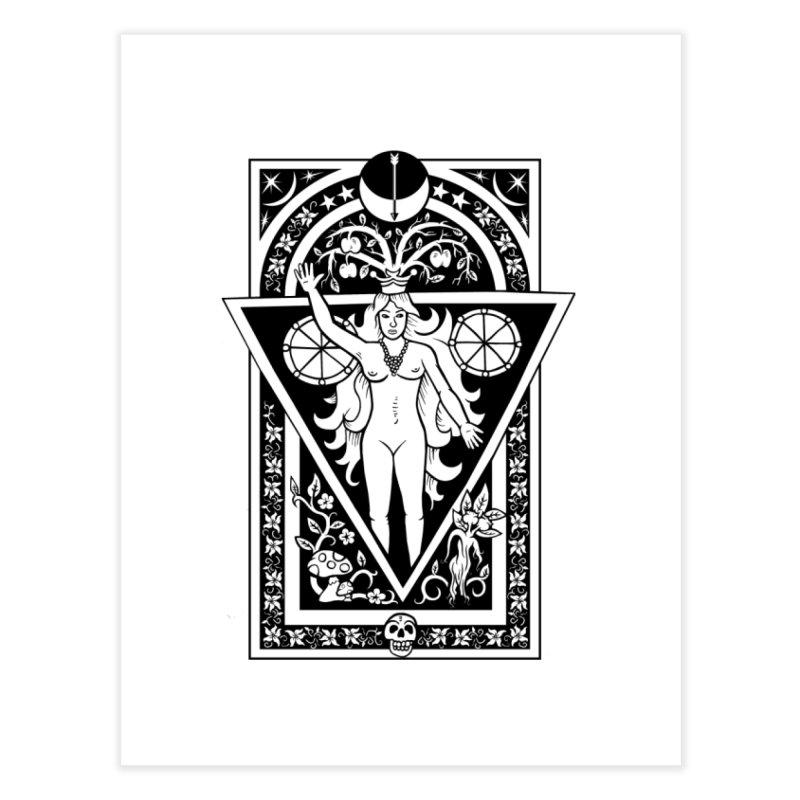 Goddess of the Moon Home Fine Art Print by Mandragora Magika