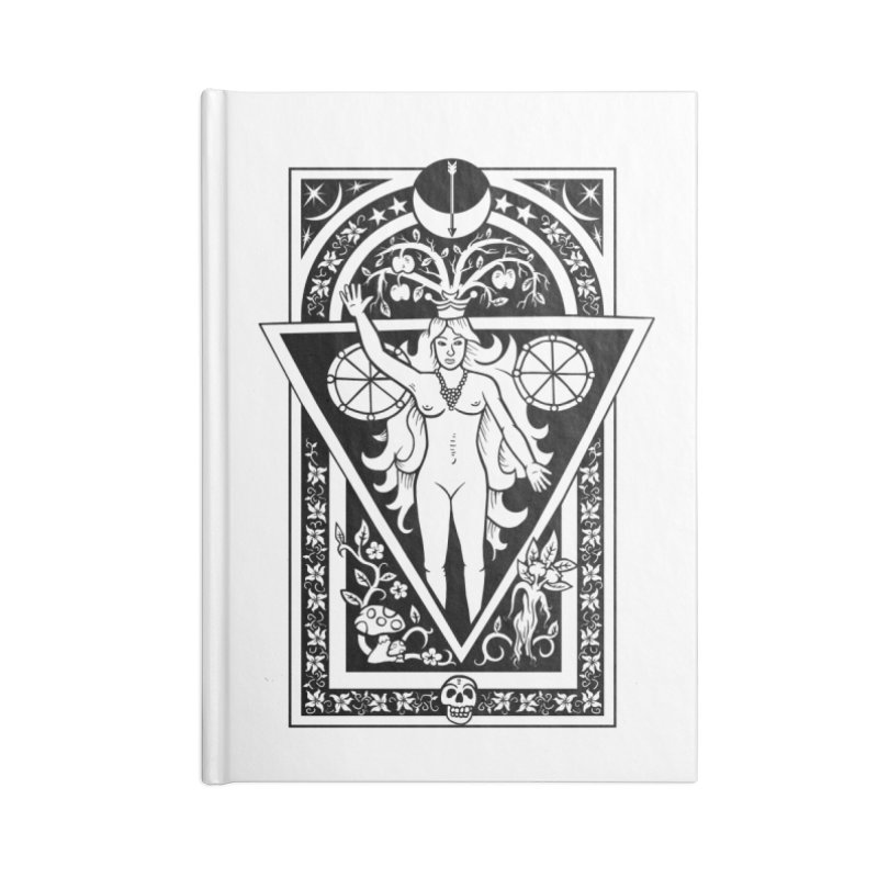 Goddess of the Moon Accessories Blank Journal Notebook by Mandragora Magika