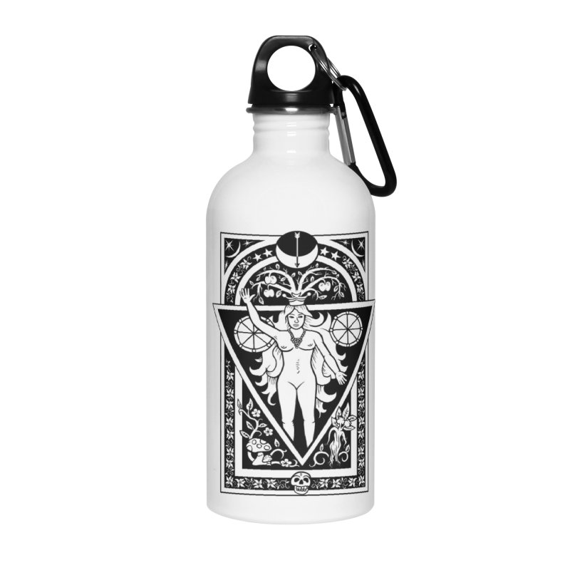 Goddess of the Moon Accessories Water Bottle by Mandragora Magika