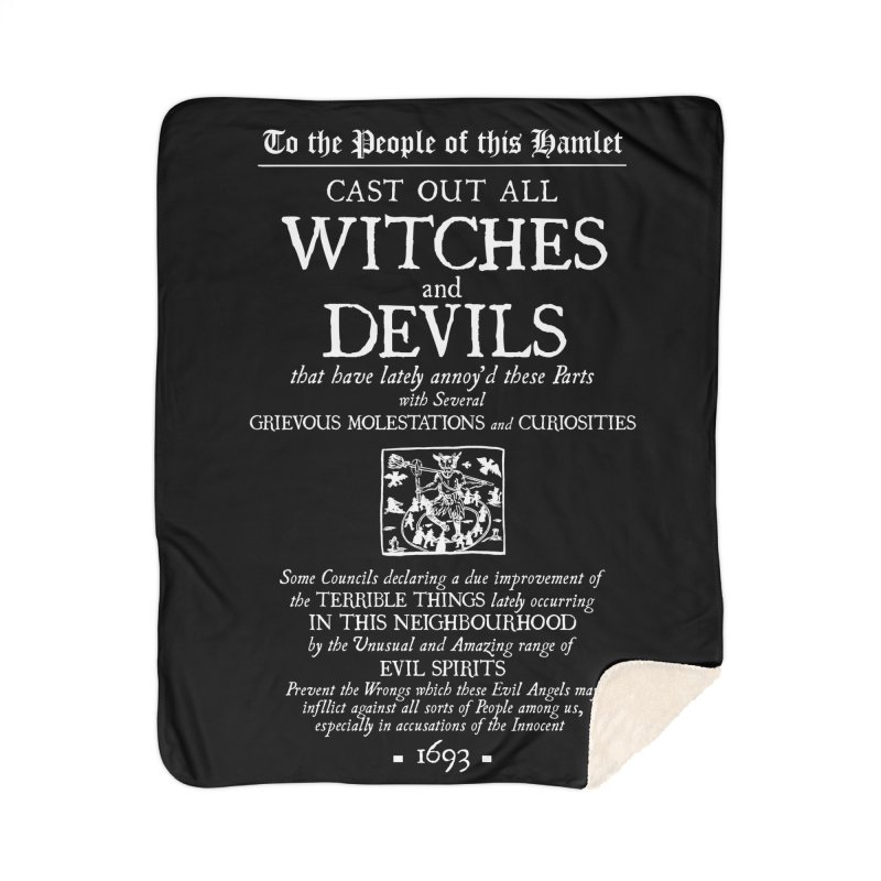 Cast out all Witches and Devils Home Sherpa Blanket Blanket by Mandragora Magika